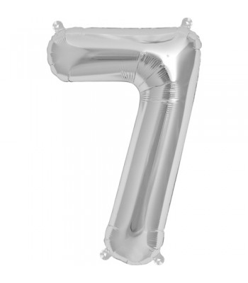 Foil Balloons - Numbers - 7 - Silver