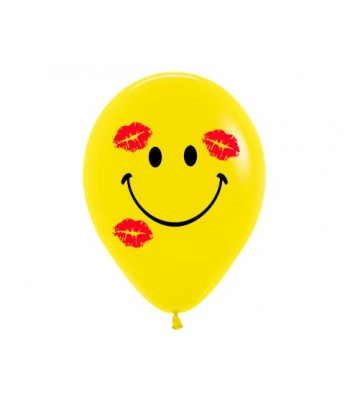 Latex Balloons - Printed - Smileys and Kisses