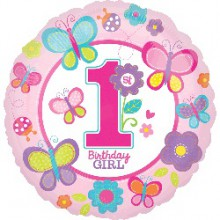 Foil Balloons - Birthday Ages - Sweet Birthday Girl 1st