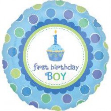 Foil Balloons - Birthday Ages - Sweet Little Cupcake Boy 1