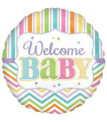 Foil Balloons - Baby Shower - Welcome Baby