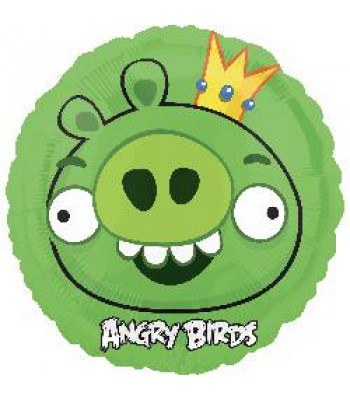 Foil Balloons - Cartoon Characters - Angry Birds King Pig
