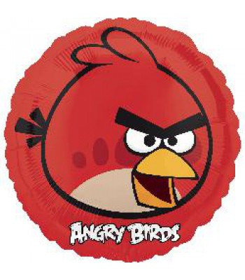 Foil Balloons - Cartoon Characters - Angry Birds Red Bird