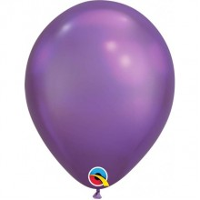 Latex Balloons - Chrome - Purple