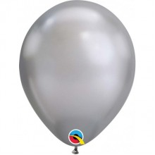 Latex Balloons - Chrome - Silver