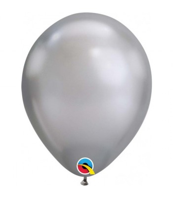 Latex Balloons - Chrome - Silver