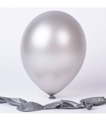 Latex Balloons - Metallic - Silver
